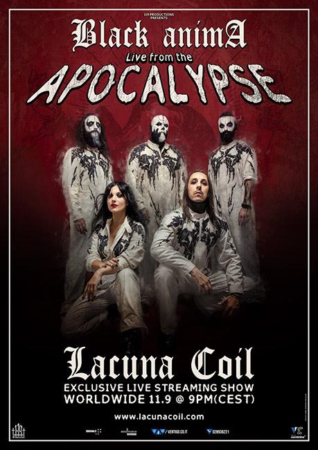 "Concierto en streaming de Lacuna Coil, ""Black Anima: Live From The Apocalypse"""