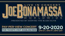 """Concierto en streaming de Joe Bonamassa presentando su nuevo disco """"Royal Tea"""""""
