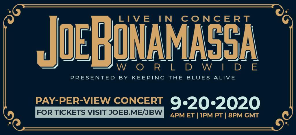 Concierto en streaming de Joe Bonamassa presentando su nuevo disco «Royal Tea»