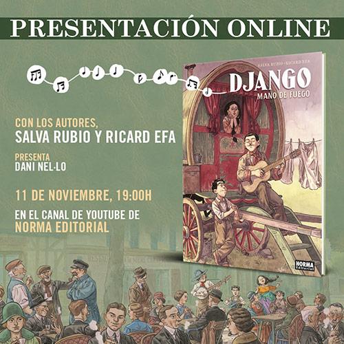 """Entrevista a Salva Rubio sobre """"Django, Mano de Fuego"""""""