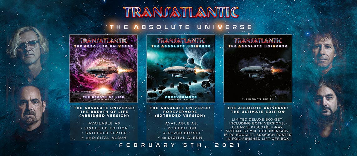 Transatlantic publica el primer single de 'The Absolute Universe'