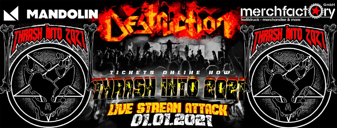 Destruction comienza el año con «Live Stream Attack»