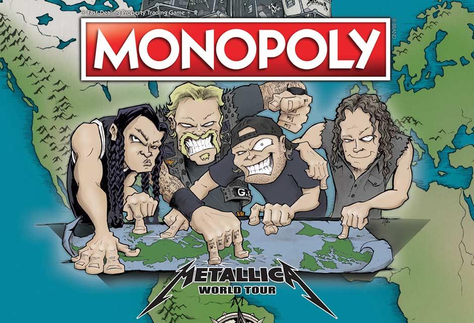 Nueva edición del Monopoly de Metallica