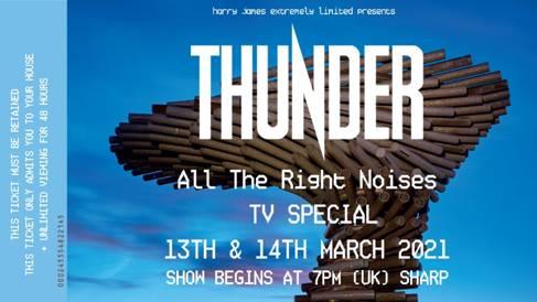 Thunder presentará su nuevo disco en un concierto online
