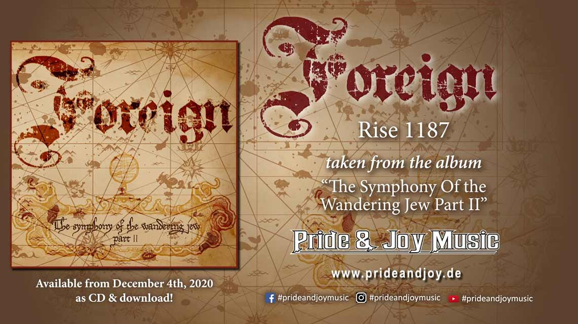Foreign: The Symphony of the Wandering Jew Part II // Pride & Joy Music / Germusica PR