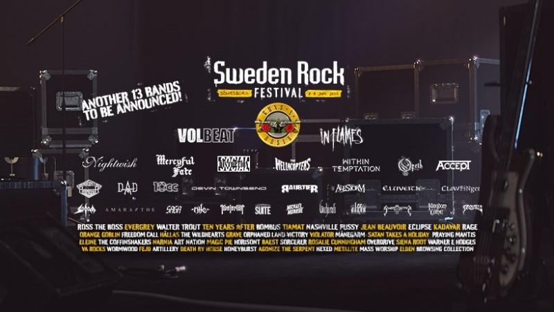 Sweden Rock, L.A Guns, Y&T, One Desire, Powerwolf...