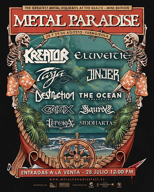 Cartel confirmado para el Metal Paradise Fest 2021