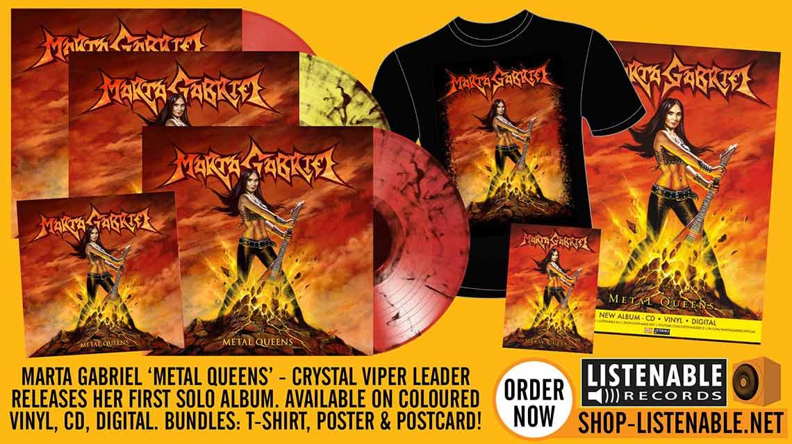 Marta Gabriel: Metal Queens // Listenable Records