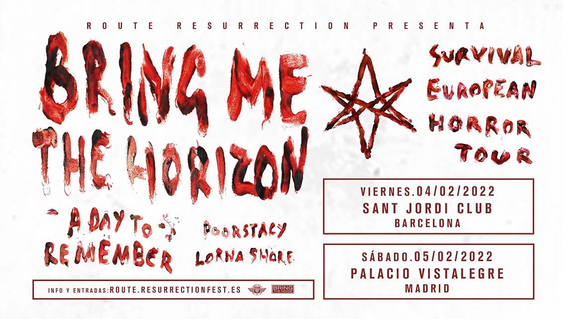 Bring Me The Horizonactuarán en 2022 en Madrid y Barcelona